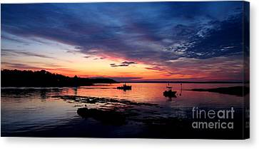 Lobster Boat Sunrise 2 Canvas Print by Donnie Freeman