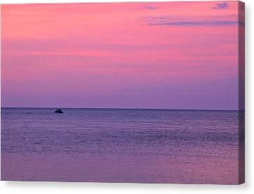 Lobster Boat Under Purple Skies Canvas Print