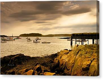 Lobster Boats Cape Porpoise Maine Canvas Print by Bob Orsillo