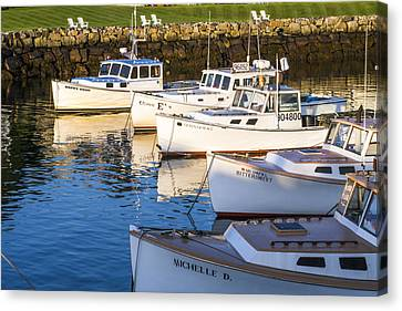 Lobster Boats - Perkins Cove -maine Canvas Print by Steven Ralser