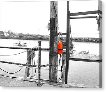 Lobster Buoy Canvas Print by Donnie Freeman
