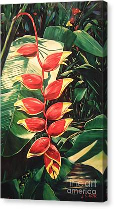 Lobster Claw Heliconia Canvas Print by John Clark