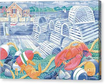 Lobster Dock Canvas Print by Paul Brent