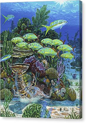 Parrot Fish Canvas Print - Lobster Feast Re0019 by Carey Chen