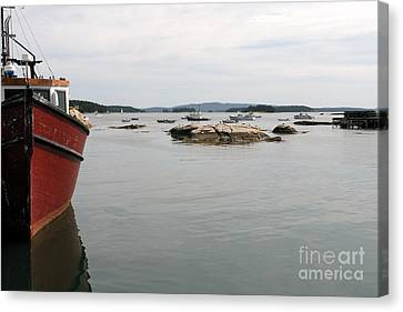 Lobster Fishing Boat Canvas Print by Olivier Le Queinec