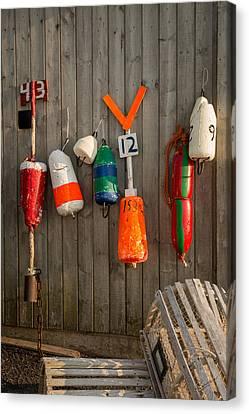 Lobster Fishing Gear Canvas Print by Kasandra Sproson