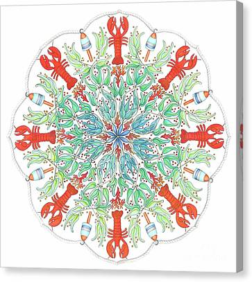 Lobster Mandala Canvas Print by Stephanie Troxell