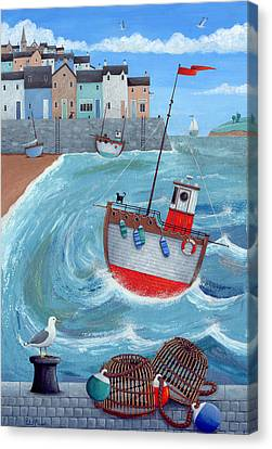 Lobster Pot Canvas Print by Peter Adderley