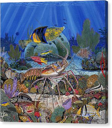Lobster Sanctuary Re0016 Canvas Print by Carey Chen