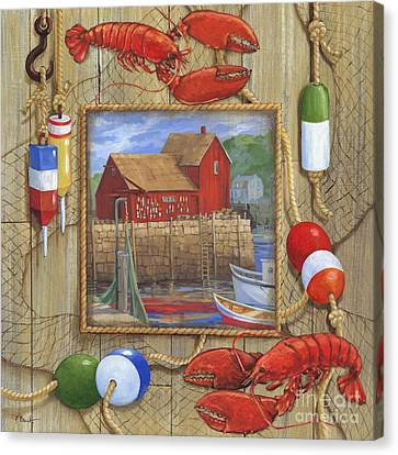 Lobster Shack Collage Canvas Print