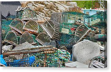 Lobster Traps  Canvas Print by Betsy Knapp