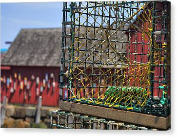Lobster Traps In Rockport Canvas Print