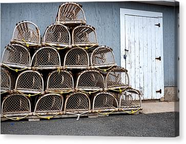 Canvas Print featuring the photograph Lobster Traps by Trever Miller