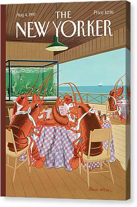Lobsterman's Special Canvas Print by Bruce McCall