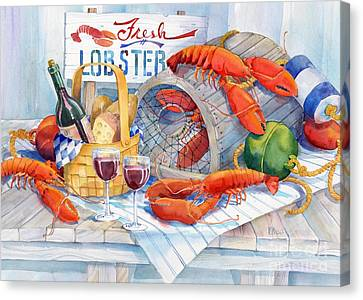 Lobsters Galore Canvas Print
