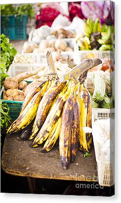 Local Asian Market Canvas Print by Tuimages