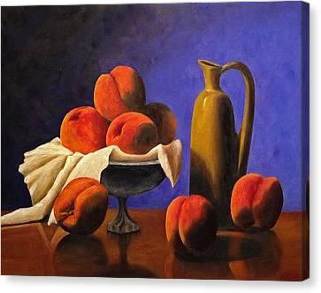 Local Peaches Oil Painting Canvas Print