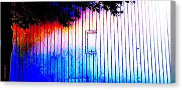 Location 54 North  A Shed Full Of Surprises Canvas Print by Sir Josef - Social Critic -  Maha Art