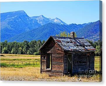 Canvas Print featuring the photograph Location Location Location Montana by Joseph J Stevens
