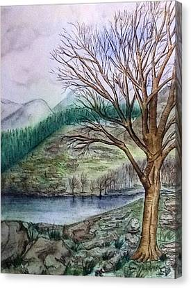 Loch Ard Stirling Overlooking Loch A'ghleannain Canvas Print