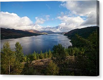 Canvas Print featuring the photograph Loch Carron by Stephen Taylor