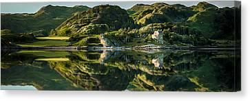 Loch Crinan Scotland And Duntrune Castle Canvas Print by Alex Saunders