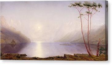 Loch Duich, Summer Moonlight Canvas Print by William Turner