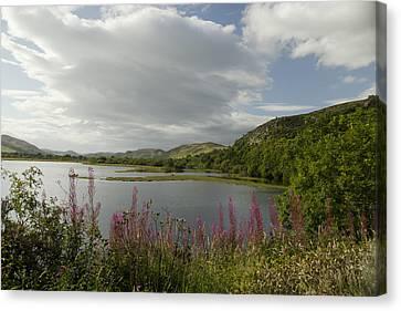 Canvas Print featuring the photograph Loch Fleet Scotland by Sally Ross
