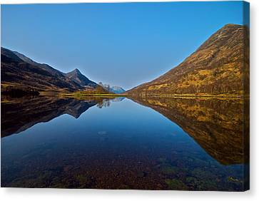 Canvas Print featuring the photograph Loch Leven by Stephen Taylor