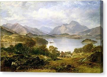 Mountainous Canvas Print - Loch Lomond, 1861 by Horatio McCulloch
