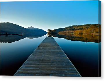 Loch Lomond In The Morning Canvas Print by Stephen Taylor
