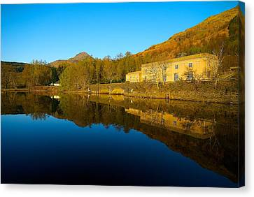 Canvas Print featuring the photograph Loch Lomond Power Station by Stephen Taylor