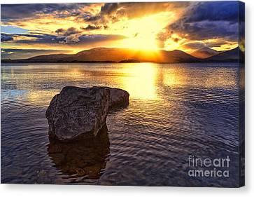 Loch Lomond Sunset Canvas Print by John Farnan
