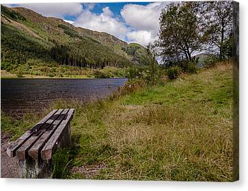 Canvas Print featuring the photograph Loch Lubnaig by Sergey Simanovsky