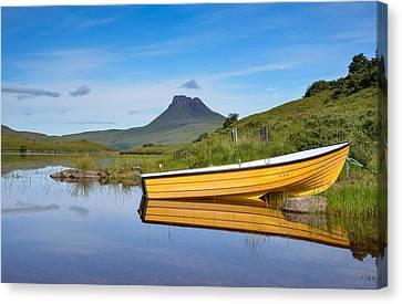 Loch Lurgainn Reflections Canvas Print by Ross Hutton