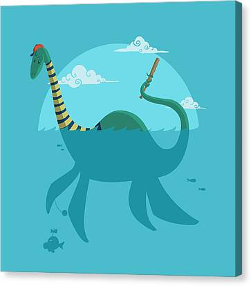 Loch Ness Monster Canvas Print by Michael Myers