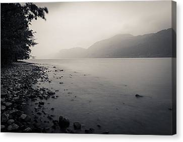 Grey Clouds Canvas Print - Loch Ness Shore by Chris Dale