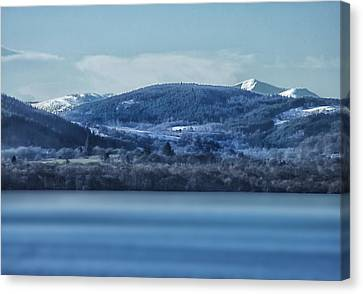Loch Ness Winter Blues Canvas Print by Jacqi Elmslie