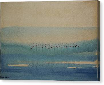 Canvas Print featuring the painting Loch Of My Heart by Mini Arora