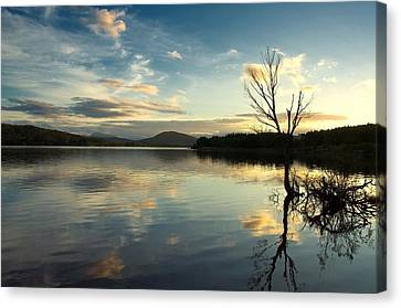 Canvas Print featuring the photograph Loch Rannoch Relflections by Stephen Taylor