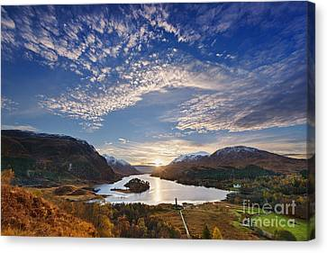 Loch Shiel Sunset Canvas Print by Rod McLean