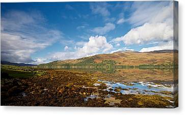 Canvas Print featuring the photograph Loch Sunart by Stephen Taylor