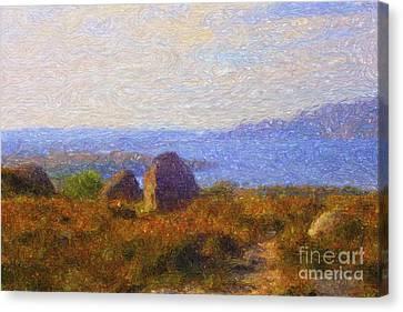 Loch View Canvas Print by Diane Macdonald