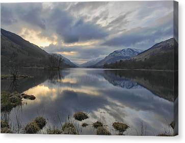 Loch Voile As Sundown Approaches Canvas Print