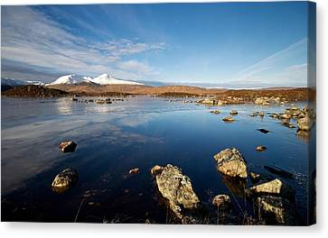 Lochan Na Achlaise Canvas Print by Stephen Taylor