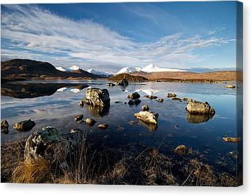 Canvas Print featuring the photograph Lochan Na H-achlaise by Stephen Taylor
