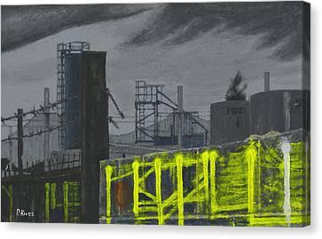 Lock Lane Acrylic On Canvas Canvas Print