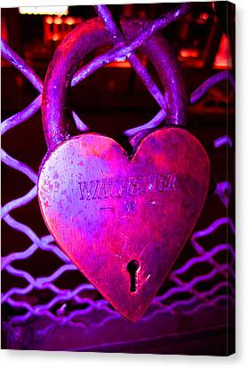 Lock Of Love In Pink Canvas Print by Kym Backland