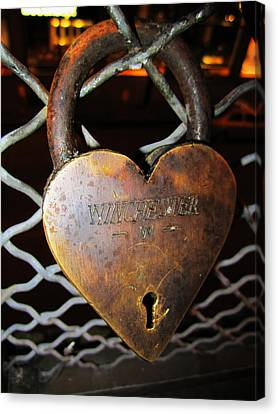 Lock Of Love Canvas Print by Kym Backland