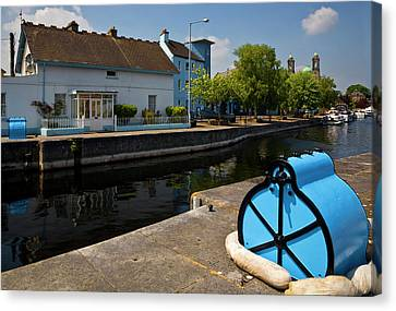 Lock On The River Shannon Canvas Print by Panoramic Images